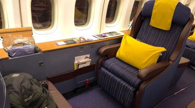 Review: Thai Airways 747-400 Royal Silk Business Class Bangkok to Mumbai