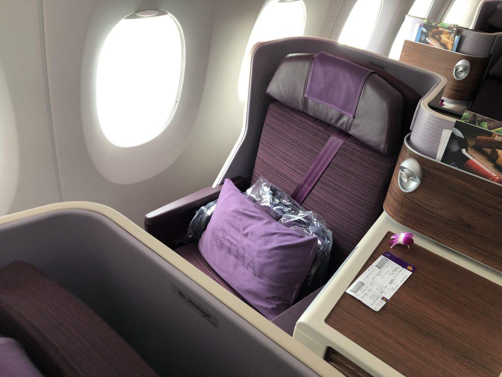 Review Thai Airways A350 900 Royal Silk Business Class